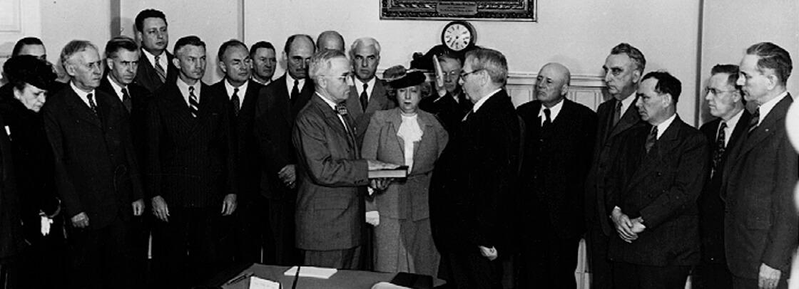 swearing in 1945