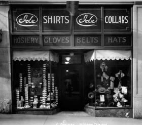 A recession forces the close of the haberdashery.