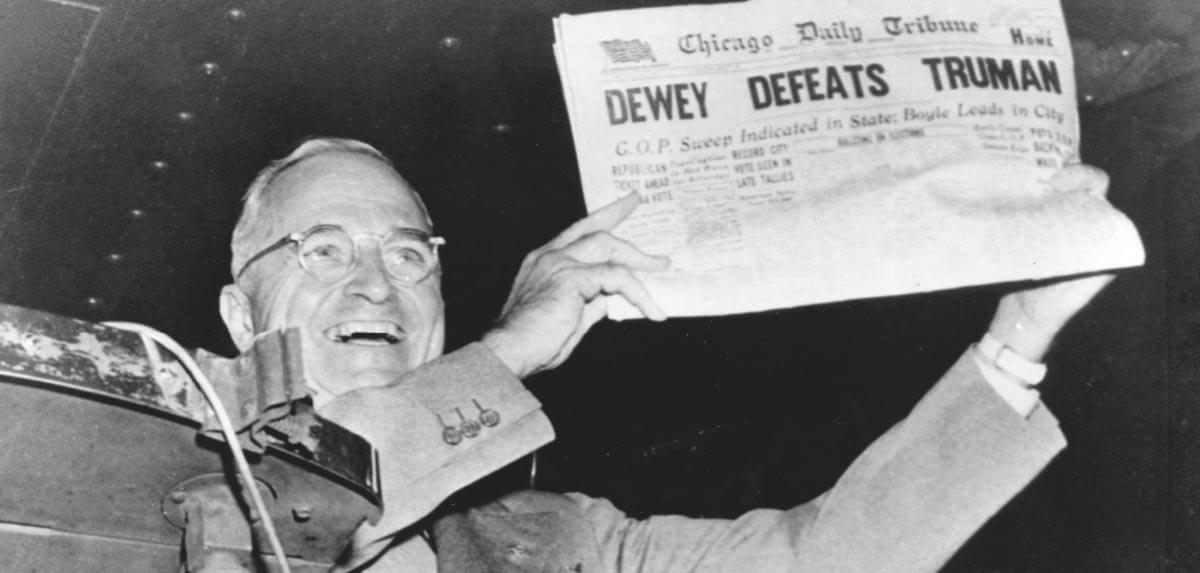 Truman is elected to his second term as president.