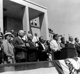 Dedication ceremony of the Harry S. Truman Library and Museum, 1957