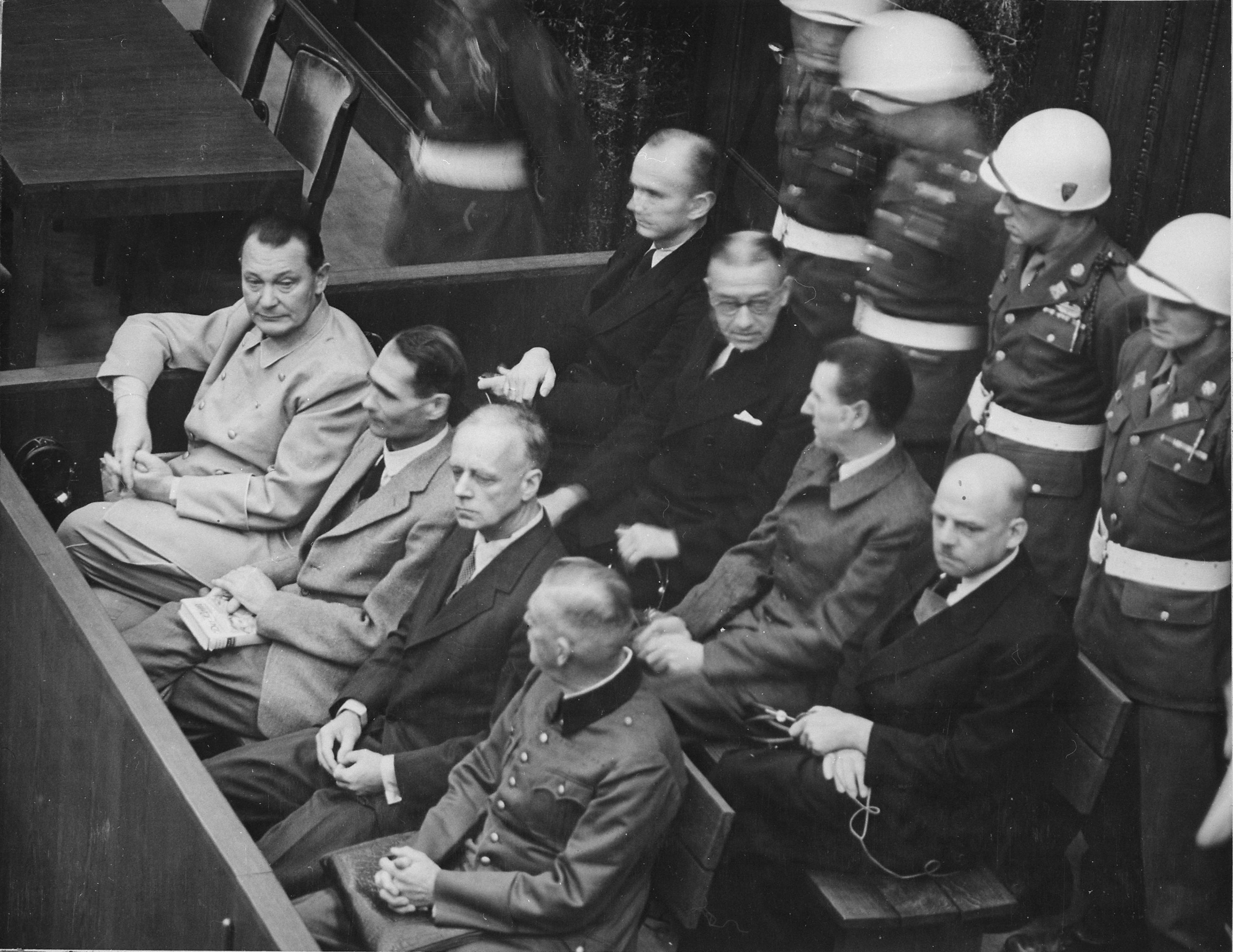 Nuremberg defendants in their dock