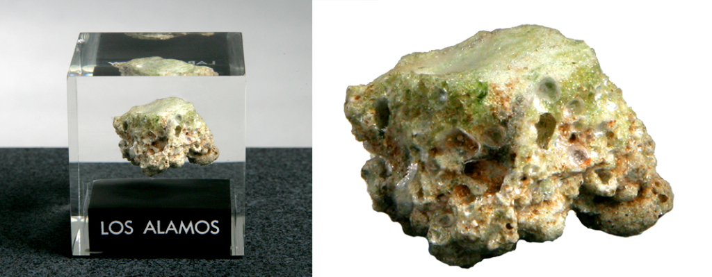 Trinitite from the Trinity Test at Los Alamos, New Mexico, July 16, 1945
