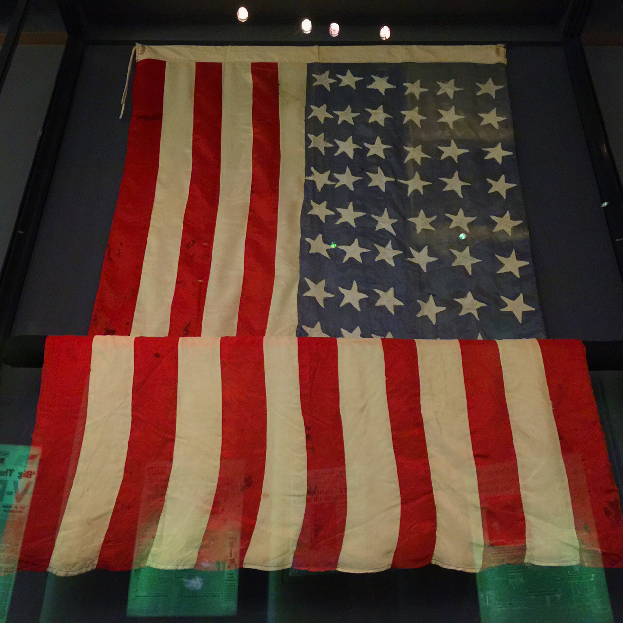 US Flag sewn by POW