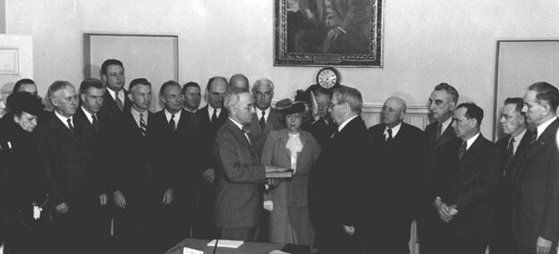 Truman swearing in