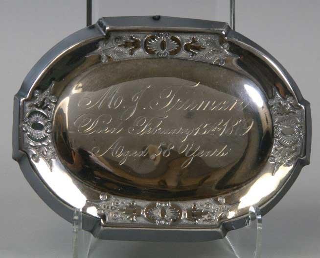 Mary Jane Holmes Truman's Casket Name Plate