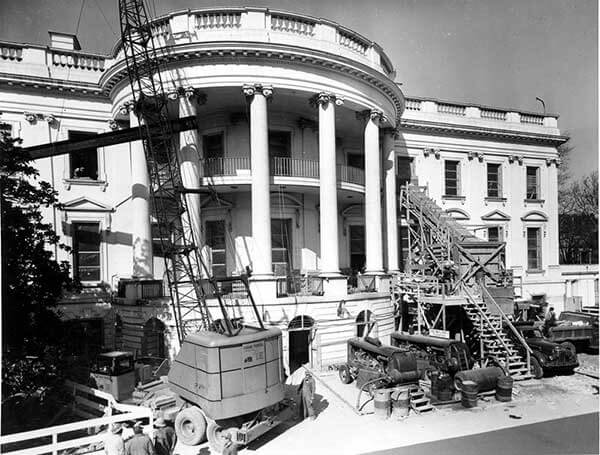 Renovation of the White House