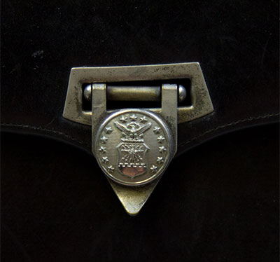 Ernie's USAF issued purse with clasp featuring the official USAF symbol